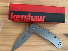 "Kershaw 1730SS Zing Assisted Flipper3"" Folding Plain Blade Knife EDC Tools"