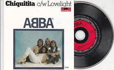 CD CARTONNE CARDSLEEVE 2T ABBA CHIQUITITA + LOVELIGHT ETAT NEUF