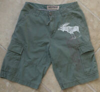 """Abercrombie & Fitch Shorts Size 32"""" Small Cargo Green Mens Stag"""