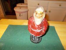 Early 1900S Egg Carton Crate Papier Mache Santa Santa Small Size Hand In Pockets