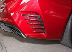 Real Carbon Fiber Rear Bumper Air Vent Splitter Cover Trim For Lexus RC200 RC300