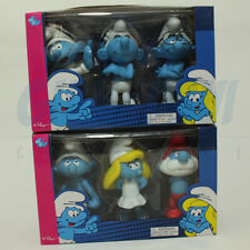 PUFFO PUFFI SMURF SMURFS Goldie Large Figure Triple Pack Complete Sat