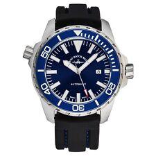 Zeno Men's 6603-2824-A4 'Divers' Blue Dial Black Rubber Strap Automatic Watch