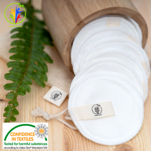 Reusable Bamboo Cotton Makeup Remover Pads Zero Waste Vegan Organic Washable Eco