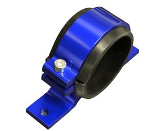 60mm Billet Fuel Pump Bracket in BLUE for WALBORO BOSCH SYTEC pumps **NEW**