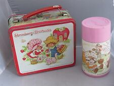 Vintage Strawberry Shortcake 1980 lunchbox lunch box and thermos