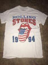 Rolling Stones T Shirt Size S Vintage Rock Concert Tour Band Lips Logo Tee