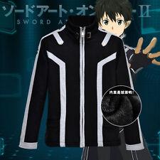 Anime Sword Art Online Kirito Shirt Unisex Jacket Sweatshirt Hooded Cosplay Coat