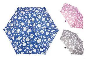 Damen Drizzles Blumenmuster Regenschirm Mit Rose Form Griff IN 3 Farben - UU237