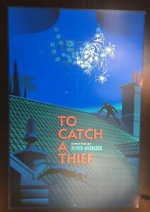 """""""TO CATCH A THIEF"""" DURIEUX ARTIST SIGNED LIMITED EDN (FOIL!) SCREEN PRINT $300"""