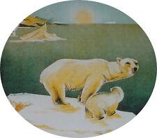 Metal sign postcard Knut gehts well in the sky of polar bear motif collecting & hobbies