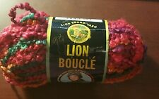 New Lion Brand Boucle Mohair Blend Yarn Popsicle 1 Skein