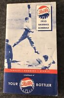 1953 NY YANKEES & NY GIANTS & BROOKLYN DODGERS VINTAGE MLB POCKET-SCHEDULE-INFO