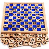 Mathe Spielzeug mit 1-100 Zahlenkarten mit Brett für Kinder frühe Ausbildung