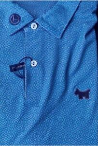 NWT SCOTTY CAMERON GALLERY Lawrie Performance Polo Blue XXL Golf Scotty Dog