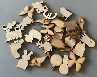 50mm Wooden MDF Shapes Stars Scrapbooking Embellishments Card Decoration