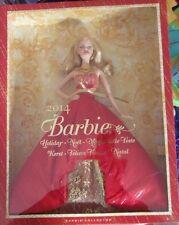 Barbie collection Happy Holiday 2014  blonde robe rouge et or neuve en boîte