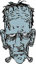 Frankenstein Embroidered Patch 8cm x 4.5cm (Iron On/ Sew On)