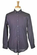 Bar Iii Men Tops Button Down Shirt MED Purple Cotton