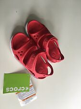Crocs Kinder Sandal In Rot/weiß Gr. 28/29 NEU Relaxed Fit