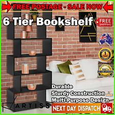 Artiss 6 Tier Display Shelf Cabinet Storage Bookshelf Bookcase Ladder Stand Rack