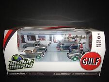 Greenlight Gulf Oil Vintage Gas Sation 6 Pcs Set 1/64 58035 CHASE