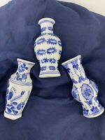 Set of 3 Seymour Mann China Porcelain Wall Pocket Vases