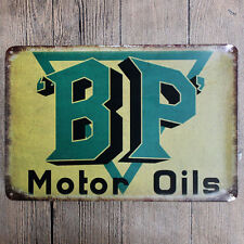 "Metal Sign Tin Poster Garage Shop Vintage Wall Decor Plaque ""B.P."""