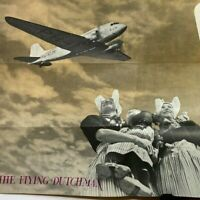 Vintage 1939 DC-3 The Flying Dutchman KLM Royal Dutch Airlines Holland Brochure