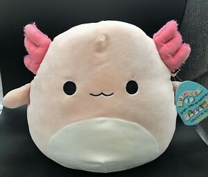 "NWT Squishmallows ARCHIE THE LIGHT PINK AXOLOTL VERY HARD TO FIND 12 "" PLUSH"