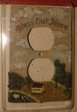 "Country Decor ""Bless Our Home"" Outlet Cover Homespun Country Collectibles Nos"