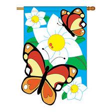 New listing Butterflies - Applique Decorative House Flag - H104037-P2