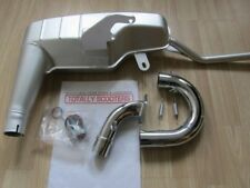 LAMBRETTA 42 mm ANCILLOTTI STYLE EXHAUST EASY FIT WITH 2 PIECE SPRUNG U BEND