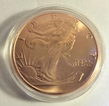 2014 U.S.A. Liberty/Eagle 1 OZ Pure 999.0 Copper Bullion Coin (a)