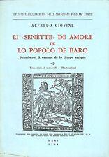 GIOVINE Alfredo, Li ''senette'' de amore de lo popolo de Baro. 1964