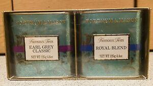Fortnum & Mason Famous Teas Earl Grey  Classic + Royal Blend - Gift Set. New