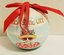 "Mary Engelbreit Ornament This is Life Cape Shore 4"" Ball Christmas Tree Beachy"