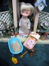 Holly Hobby Doll & Playset~Knickerbocker~6&# 034; doll, bathtub, cradle, rubber duckie