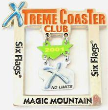 Amusement Park Pin Six Flags Magic Mountain Xtreme Coaster Club 2001 X No Limits