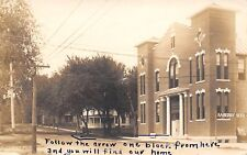 Clarinda IA~AA Berry Seed Co Sign~National Guard Armory >>> Our Home RPPC c1914