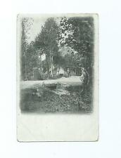 Vintage Black & White Postcard of Unknown View in France - Posted 1907
