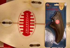 SPEEEDFINS SF-0002F Surfboard FibreGlass-Nylon Fin System incls 3 Fins