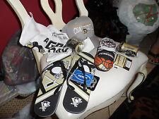 Pittsburgh Penguin gift lot - flip flops, hat, towel, noise horns, plush goalie