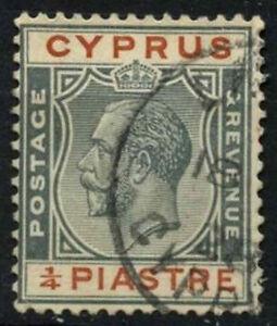 Cyprus  1924-8 SG#103, 1/4pi Grey & Chestnut KGV Used #D51637