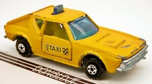 Polfi-Toys Renault 17 Taxi Cab Yellow Greece 1971-1976 Coupe 1/64 Scale