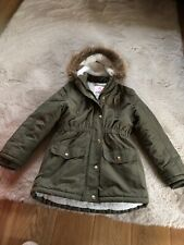 Girls From George Green Coat With Fur Inside Aged 9-10yrs