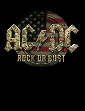 AC/DC cd cvr ROCK OR BUST US FLAG Official TOUR SHIRT XL New angus young
