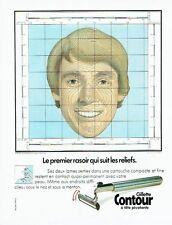 Publicité Advertising 057  1980  Gillette contour  rasoir tete pivotante
