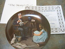 The Storyteller Rockwell Collector Plate Heritage Collection Coa