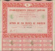 Etablissements Chaudhuri Lefevre (54) (und)
